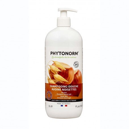 Photo Shampooing-Douche Avoine Noisettes 1L Bio Phytonorm