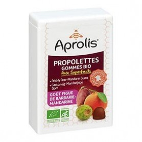 Photo Propolettes Superfruits - goût Mandarine-Figue de Barbarie 50g Bio Aprolis