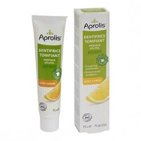 Photo Dentifrice Tonifiant goût Citron 75ml Bio Aprolis